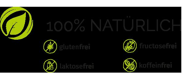 Cortidor® Qualitätsmerkmale Icon - glutenfrei, fructosefrei, laktosefrei, koffeinfrei