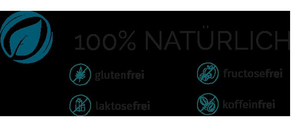 Cortidor® Business Icon Qualitätsmerkmale - glutenfrei, laktosefrei, fructosefrei, koffeinfrei