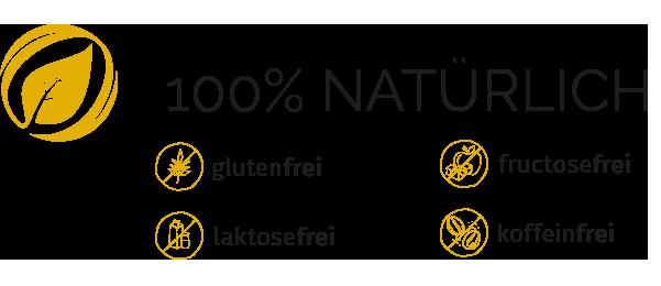 Cortidor® Student Icon Qualitätsmerkmale - glutenfrei, laktosefrei, fructosefrei, koffeinfrei